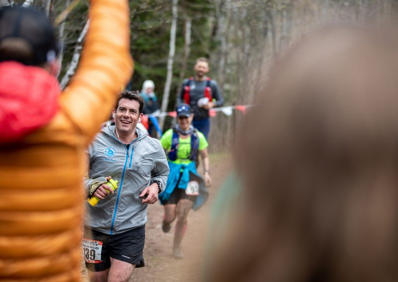 Nick Keller Superior Trail Race Finish - Photo Credit Tone Coughlin