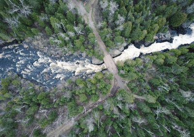 Poplar River Crossing From Above - Photo Credit Fresh Tracks Media