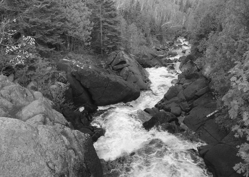 Poplar River Rapids Waterfall Near the Start and Finish - Photo Credit Kevin Langton