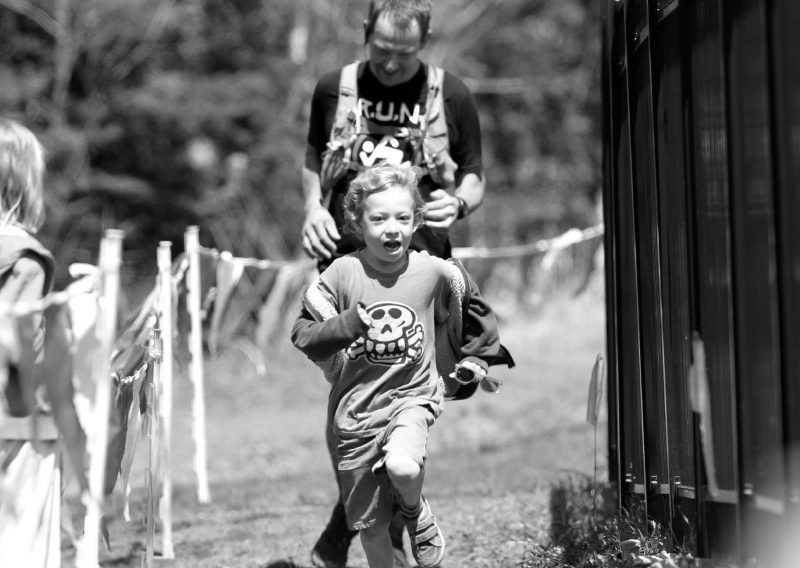 Steve Smillie Finishes with His Son - Photo Credit Arielle Anderson