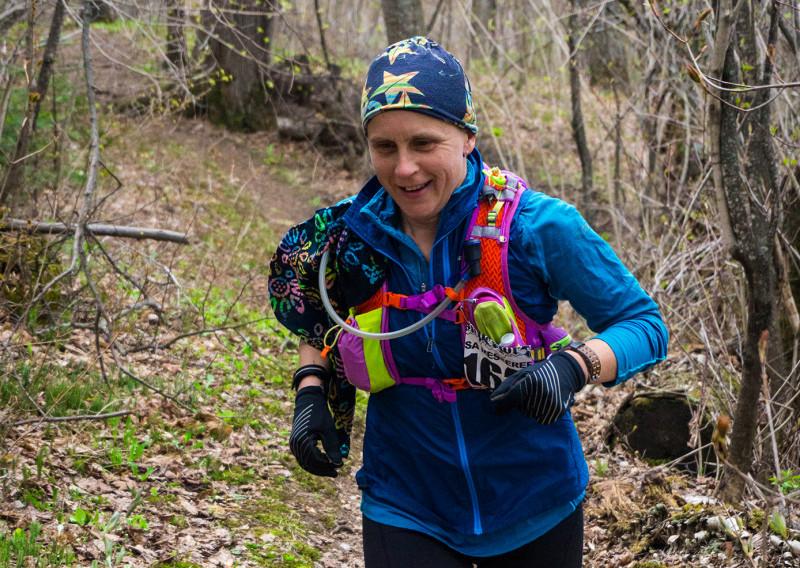 Trail Ambassador Lisa Messerer All Smiles - Photo Credit Jamison Swift