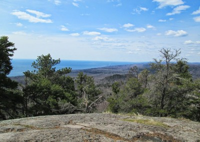 View Of Lake Superior from the 50KM Turnaround at Carlton Peak - Photo Credit Robyn Reed